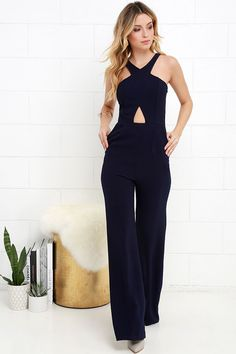 Sexy and I Know It Navy Blue Jumpsuit at Lulus.com!
