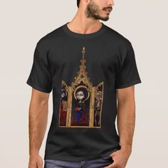Shop Eve Triptych gothic medieval Shirt created by strangeling. Personalize it with photos & text or purchase as is! Tshirt Colors, Medieval, Fitness Models, How To Make, How To Wear, Triptych, Casual, Fabric, Sleeves