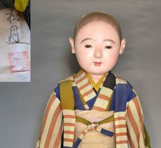 Japanese antique ICHIMATSU NINGYO BOY gofun craftman Doll Large 25inch 121802 | eBay