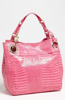 Steve Madden Candy Coated Croc Embossed Tote