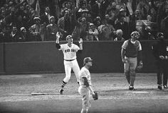 1975: Carlton Fisk's walk-off home run beats Reds in Game 6 of World Series. After he waved it fair Grandma got up and kissed the TV.. or so I'm told.