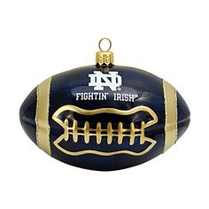 Joy to the World Notre Dame Football Ornament | Bloomingdale's