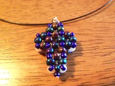 "Reversible unisex cross pendant on 16"" black cord w/twist clasp, unisex, cross by StrungOnLove on Etsy"