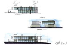 gallery of drew' residential projects Contemporary Architecture, Architecture Art, Modern Contemporary, Architects, Multi Story Building, Boxes, Sketches, Design, Building Homes
