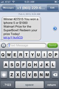SCAM ALERT: You have not won an iPhone 5 or $1000 Wal-Mart prize