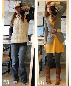 5 & well just the dress i personally dislike puffy jackets unless you are skiing/camping or under ten. Dressy Outfits, Cute Outfits, Fashion Outfits, Womens Fashion, Fall Winter Outfits, Spring Outfits, Cute Yellow Dresses, 10 Item Wardrobe, Jones Design Company