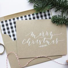 calligraphy Christmas cards available at the la Happy shop here: http://etsy.me/1SPmuOq