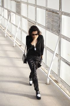 Anine Bing Shirt & Bottega Veneta Pants | Styleheroine