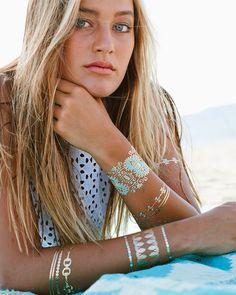 BLUE LAGOON Metallic Jewelry Tattoos