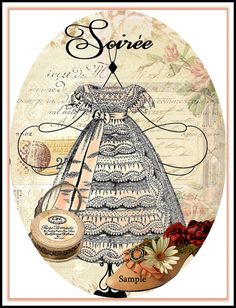 Paris Chic Soiree Lady's Night Out Collage by SenecaPondCrafts, $1.00