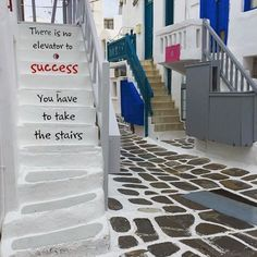 """New year's inspirational quote , at Mykonos island (Μύκονος). """"There is no elevator to Success you have to take the stairs"""" ! Capture by @lanamorris . * Tag your Friends or Send it Direct to wherever you Like ➡️ * #Mykonos #Cyclades #Greece #AegeanSea #VisitGreece #iloveGreece #athensvoice #reasonstovisitgreece #earth_deluxe #bestplacestogo #travelawesome #travelandlife #lifeonourplanet #tlpicks #Hellas #Μυκονος #Κυκλαδες #Ελλαδα #Cyclades_islands"""