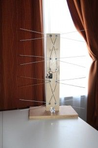 DIY HDTV antenna from a coat hanger