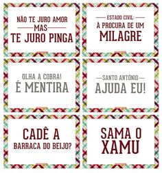 Download: Plaquinhas para Festa Junina - Heloisa Godioso 16th Birthday, Bartender, Party, Topper, Google, Beverage, Receptions, Parties
