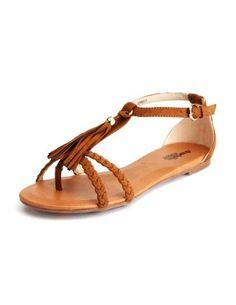Fringe Tassel Braided Ladies Walking Sandal - LoveItSoMuch.com