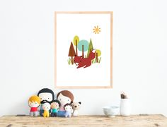 This cute fox is printed on professional-quality cardstock in 11x14, this charming print features a playful animal design that brings a bit of imagination into the home. Only x20 left in stock @ $12 dlls. This item includes domestic shipping, +10 for international shipping. This item will ship one week after purchase...  Follow us on Instagram @childreninspiredesign | Facebook Children Inspire Design Shop this product here:  https://www.spreesy.com/childreninspiredesign/205…