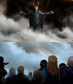 """jwsze: """"Merry Christmas and Happy Holidays everyone! Asgard's Savior is here! In the early days of development, Marvel had a meeting with @twhiddleston to talk to him about what Loki would be up to in Thor Ragnarok. These couple of keyframes were prepared for that meeting. I am very glad that the final shots of the film resembled these early paintings.. """" (https://www.instagram.com/p/BdIpgYvH_ss/ )"""