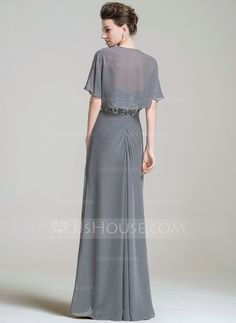 A-Line/Princess Sweetheart Floor-Length Chiffon Mother of the Bride Dress With Ruffle Lace Beading Sequins (008074199)