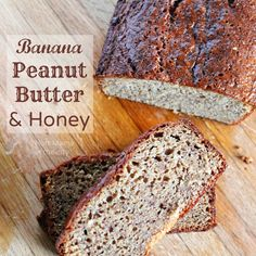 Banana, Peanut Butter & Honey bread recipe. Perfect energy booster and the taste is amazing!