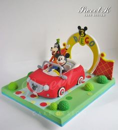 Mickeys car cake