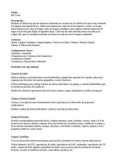 Proyecto flipped class multidisciplinar My town  Proyecto flipped class para 6 primaria multidisciplinar