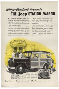 willys overland jeep station wagon 46