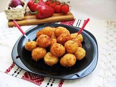 Bulete de cascaval cu cartofi si sunca presata