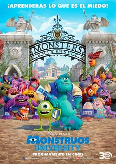 Monstruos University en Yelmo Cines Plaza Mayor http://www.yelmocines.es/cines-malaga/peliculas-en-cartelera-plaza-mayor-3d