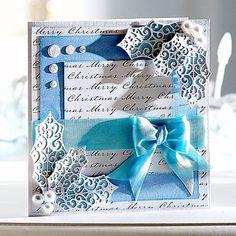 Crafter's Companion Foiled Cards & Snowfall Acetate