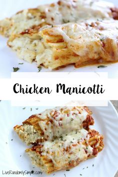 Easy Chicken and Spinach Manicotti | Live Randomly Simple