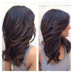 This long, luscious shag layered haircut!