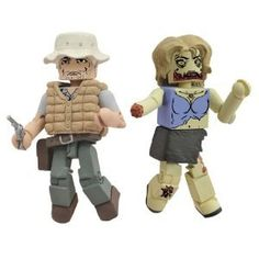 Diamond Select Toys Walking Dead Minimates Series 1: Dale and Female Zombie  (2-Pack)