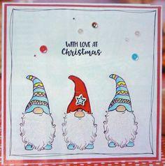 gnome sweet gnome a Homemade Christmas Cards, Christmas Cards To Make, Xmas Cards, Christmas Art, Christmas Projects, Handmade Christmas, Homemade Cards, Christmas Decorations, Christmas Knomes