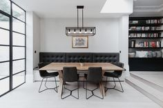 Muswell Hill Architects | House in Muswell Hill, Grand Avenue Kitchen Seating, Kitchen Dining, Glass Boxes, Architect House, House On A Hill, Modern Family, New Builds, Skylight, Victorian Homes