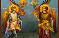 Angels with Hexapteriga South Side Religious Icons, Religious Art, Orthodox Prayers, Best Icons, Byzantine Icons, Orthodox Icons, Christian Art, Cherub, Princess Zelda