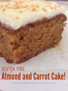 Gluten Free Almond and Carrot Cake