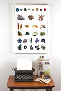 Gem Mineral and Crystal Grid Collage by DaylightDreams on Etsy, $35.00 #crystalgrid #gemsandminerals