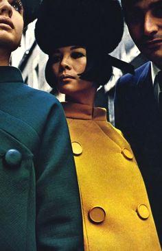 Sixties model Hiroko wearing Pierre Cardin