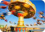 World's Best Seaside Amusement Park. It really is a fun place to visit! A walk along the beach followed by some ice cream on the boardwalk is a perfect way to spend the day.