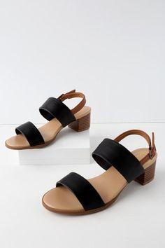 #Valentines #AdoreWe #Lulus - #Lulus Tulum Trek Black Heeled Sandals - Lulus - AdoreWe.com
