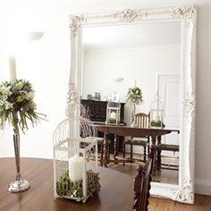 Image of Elaborate White Mirror