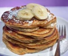 Banana Pancakes with Apple Topping
