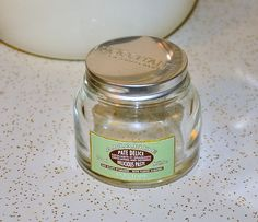 L'Occitane Amand Delicious Paste Pate Delice empty glass jar 7 ounce #LOccitane