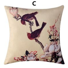 Chinese style flower throw pillow decoration home couch cushions