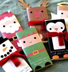 Adorable christmas gift - candy bar wrappers // Vidám karácsonyi csokoládé csomagolások // Mindy - craft tutorial collection