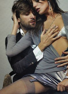 Francesco Vezzoli and Daria Werbowy by Mario Testino for Vogue France, May 2010