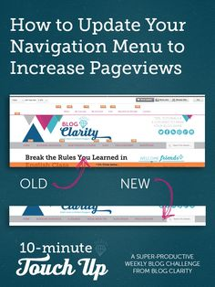 Use these tips to make your navigation menu drive more blog traffic!
