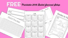 2018 Bullet Journal Setup Free Printable