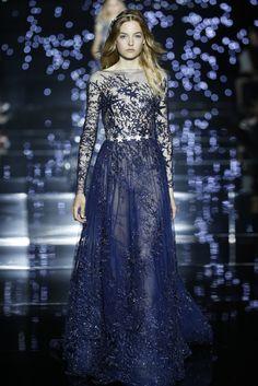 Fashion Friday: Zuhair Murad F/W Haute Couture 2015 Collection Couture 2015, Couture Fashion, Zuhair Murad 2015, Look 2015, Bouchra Jarrar, Blue Dresses, Formal Dresses, Fashion Brands, Fashion Tips