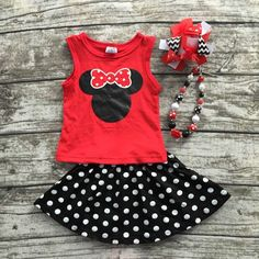 Minnie Skirt Set