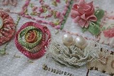 39-squares #embroidery with #embellishments